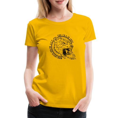 FIRE BREATHING BEAR - Premium-T-shirt dam