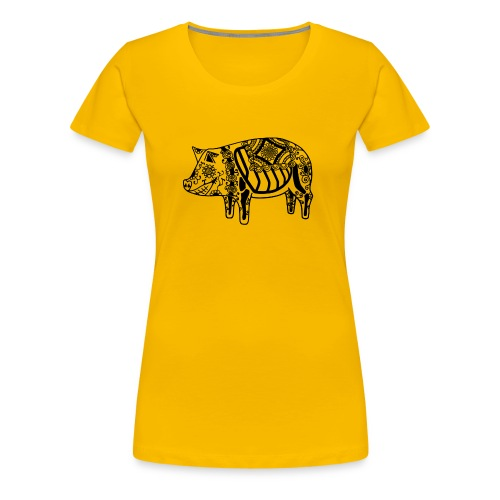 Cerdo Muerto De dödas Daladjur - Premium-T-shirt dam