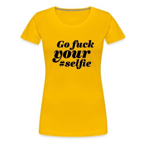 Selfie gold - Frauen Premium T-Shirt