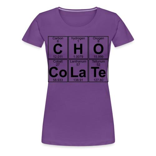 C-H-O-Co-La-Te (chocolate) - Full - Women's Premium T-Shirt