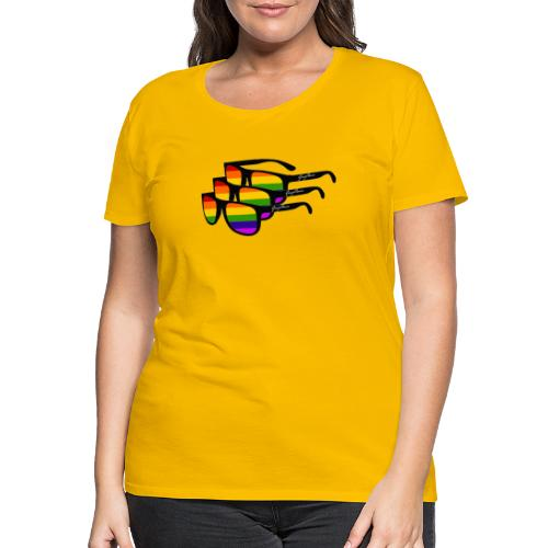 Rainbow Sunglass Gay Ban - Frauen Premium T-Shirt