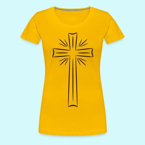 Kreuz schwarz - Frauen Premium T-Shirt
