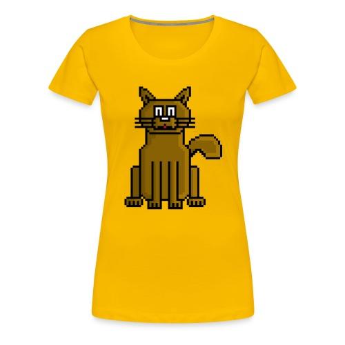 GatoPixelArt - Camiseta premium mujer