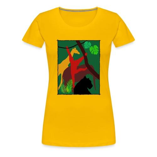 Dschungel - Panther-Affe-Elefant-Giraffe - Frauen Premium T-Shirt