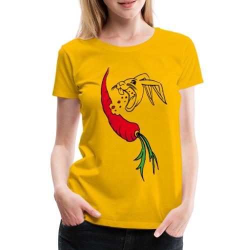 Supermöhre hase kaninchen häschen osterhase ostern - Frauen Premium T-Shirt