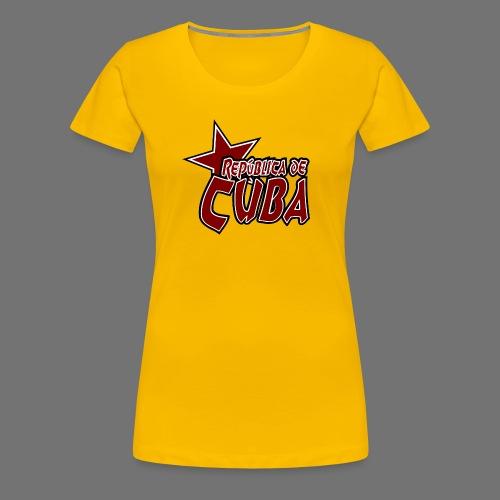 República de Cuba Stern - Frauen Premium T-Shirt
