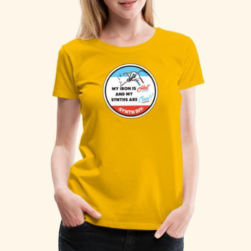 synthcool - Naisten premium t-paita
