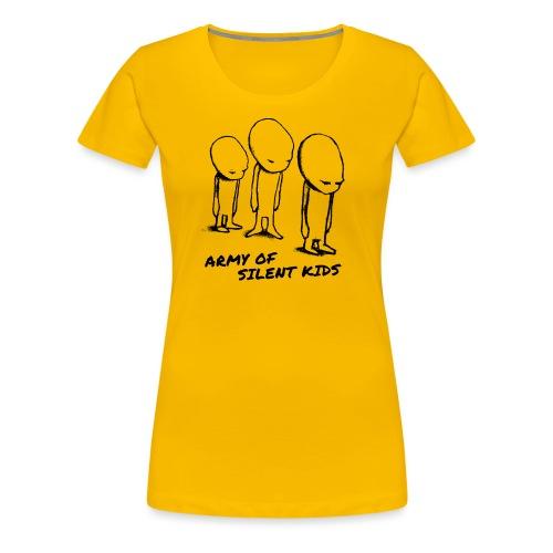army of silent kids cover avfotografert sort skje - Women's Premium T-Shirt