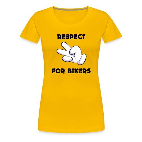 Respect for Bikers - Maglietta Premium da donna