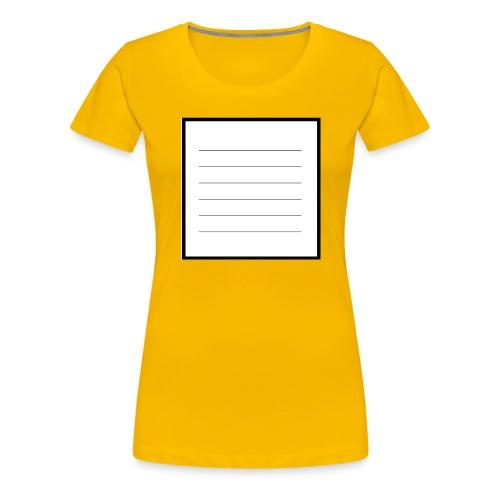 tell me what you think - Frauen Premium T-Shirt