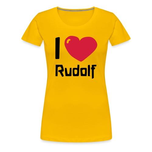 I love Rudolf - Frauen Premium T-Shirt