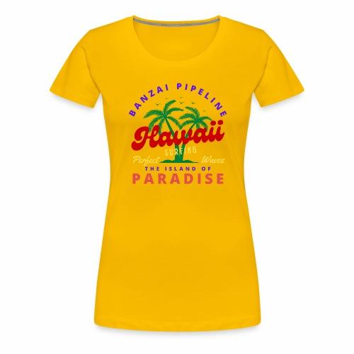 Hawaii Beach Palm Tree Retro Classic T Shirt - Women's Premium T-Shirt