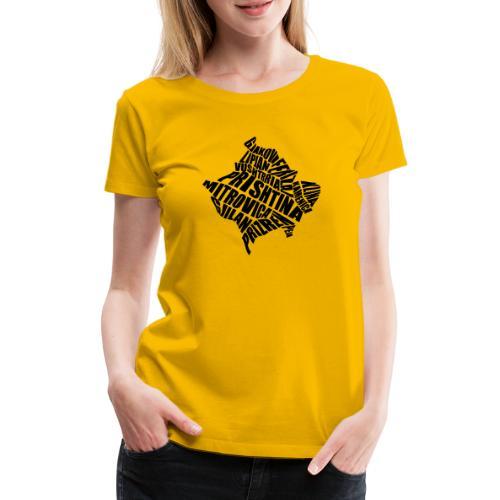 Kosovo Land mit allen Städten - Frauen Premium T-Shirt