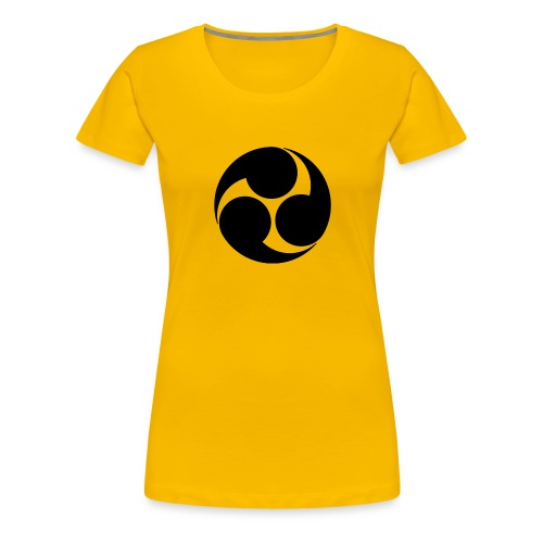 Kobayakawa Mon Japanese clan black - Women's Premium T-Shirt