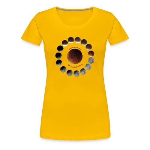 Mondfinsternis 2015 - Frauen Premium T-Shirt