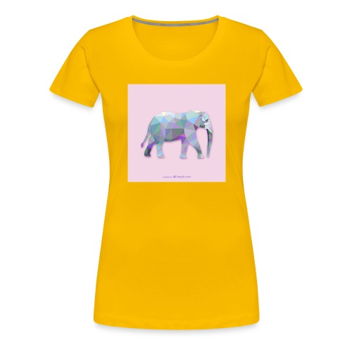 Elefante Intero triangoli - Maglietta Premium da donna