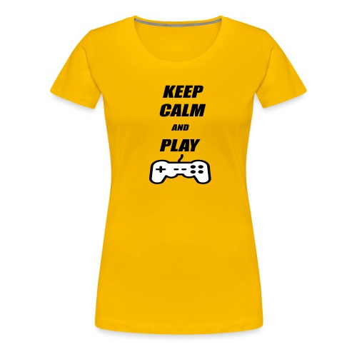 Maglietta Keep Calm And Play bianca. - Maglietta Premium da donna