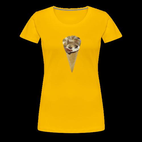 Low-poly_Ice_Cream - Vrouwen Premium T-shirt