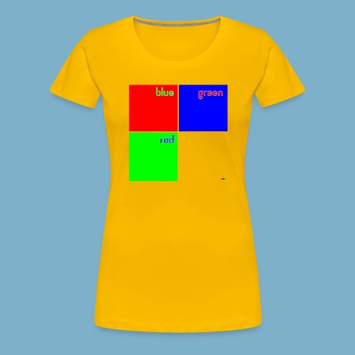 Fundago Color Motiv - Frauen Premium T-Shirt