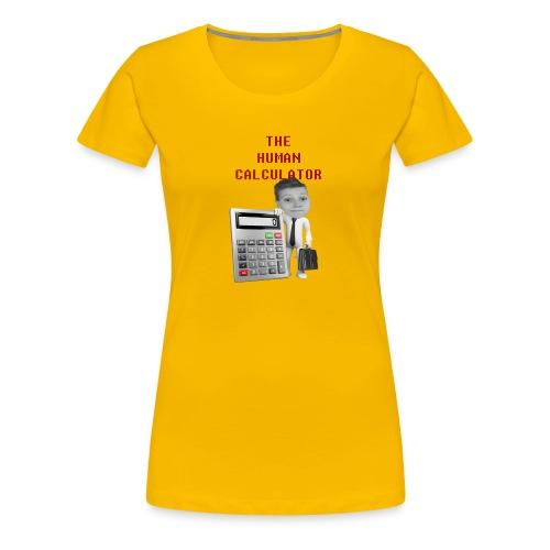 The Human Calculator - Premium-T-shirt dam