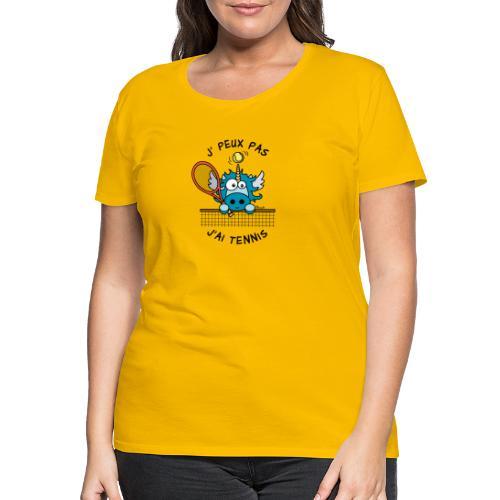 Licorne Bleu, Balle Raquette Tennis - T-shirt Premium Femme