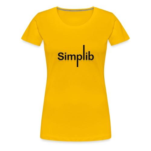 Logo-Simplib-ok - Koszulka damska Premium