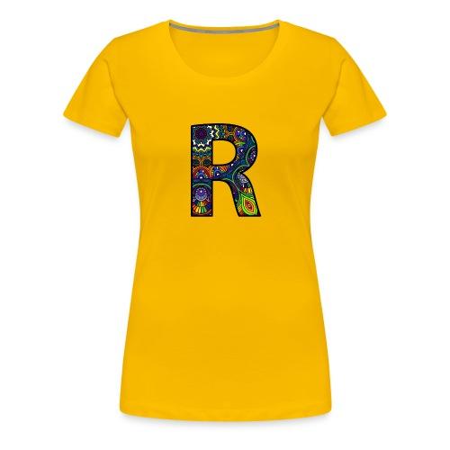 Letra R Mandala - Camiseta premium mujer