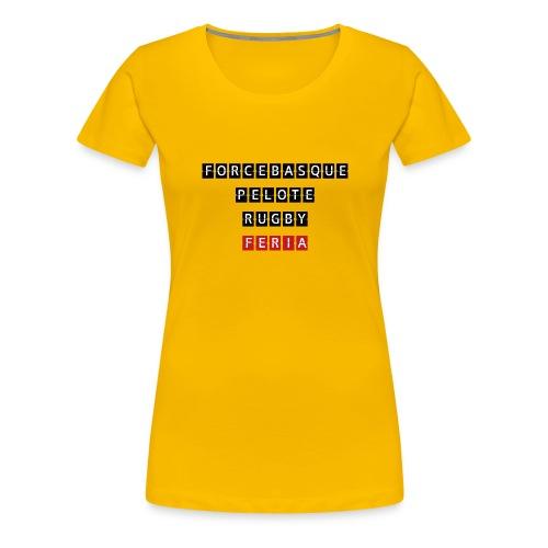 sweat-shirt Force Basque - T-shirt Premium Femme