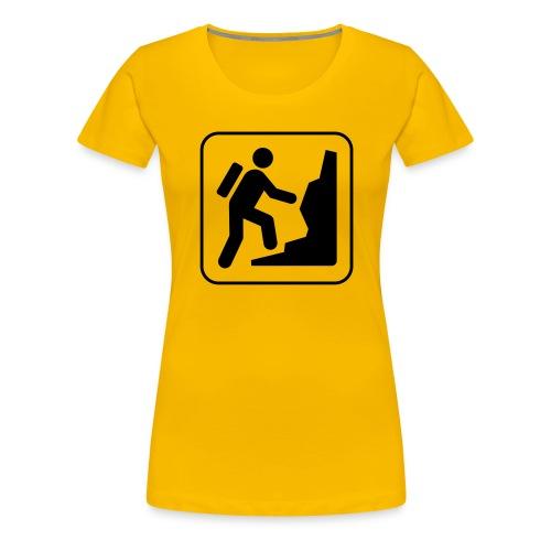 Bergwandern_logo - Frauen Premium T-Shirt