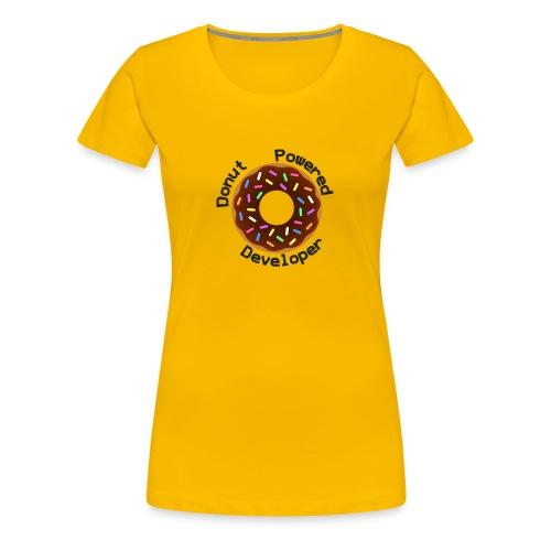 Donut Powered Developer - Camiseta premium mujer