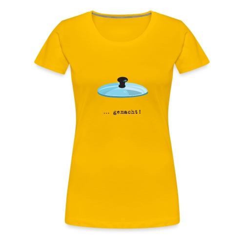 2 Deckel bunt - Frauen Premium T-Shirt
