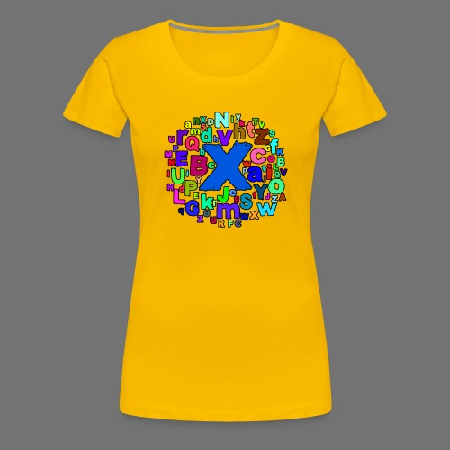 ABC - Naisten premium t-paita