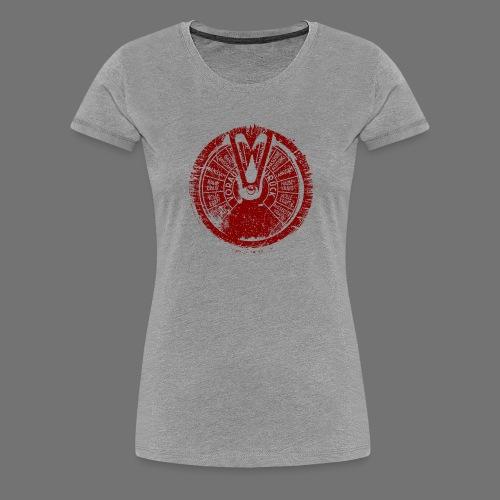Maschinentelegraph (punainen oldstyle) - Naisten premium t-paita