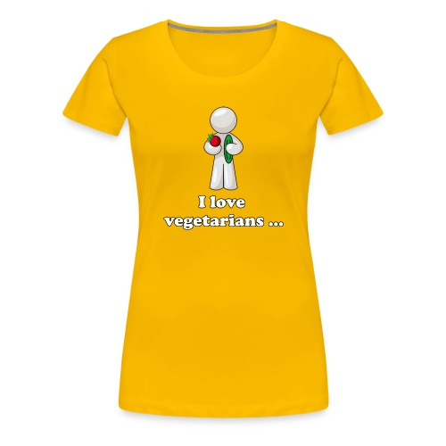 lovevegetariansfront - Vrouwen Premium T-shirt