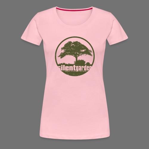 hiljainen puutarha (vihreä oldstyle) - Naisten premium t-paita