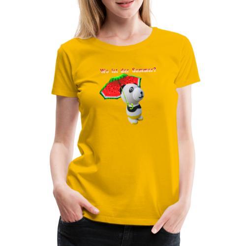 Wo ist der Sommer - Frauen Premium T-Shirt