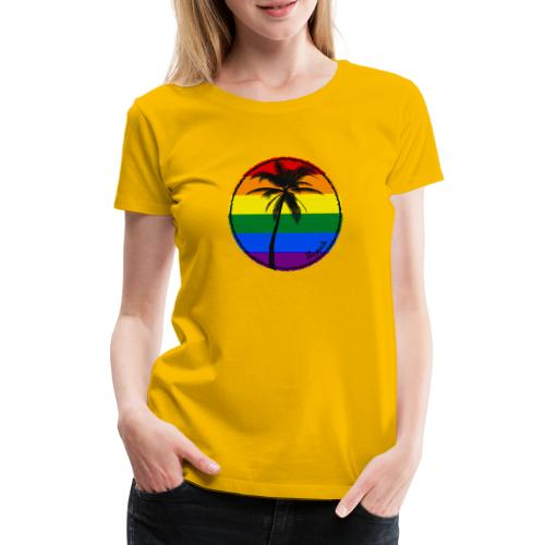 Beach sunny rainbow - Koszulka damska Premium
