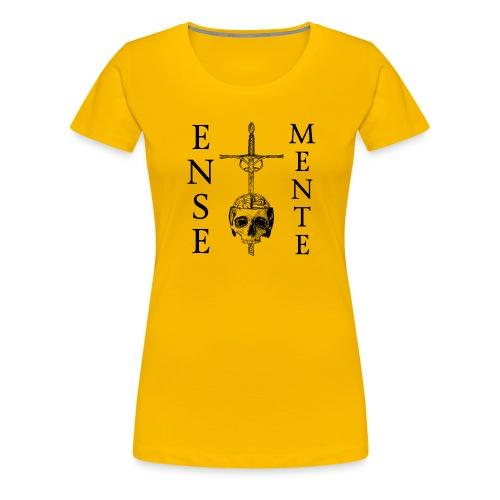 Ense et Mente Logo Black - Premium T-skjorte for kvinner
