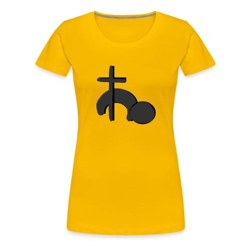 Gemeindelogo_Schwarz - Frauen Premium T-Shirt