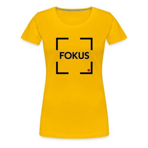 Fokus - Schwarz - Frauen Premium T-Shirt