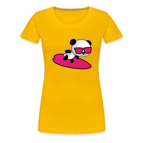 Surfing Panda - Frauen Premium T-Shirt