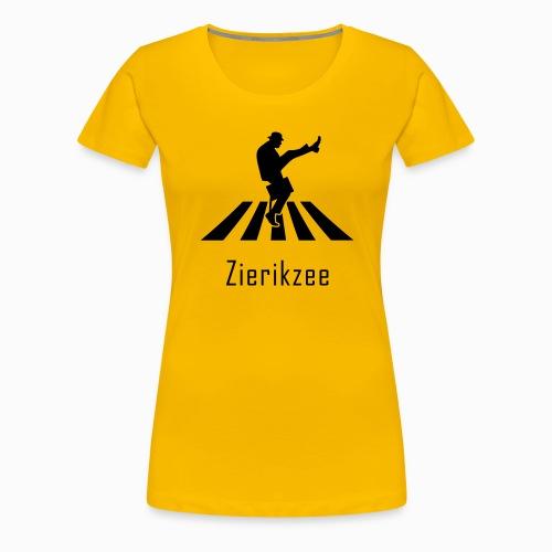 Silly walk zebrapad verkeersbord Zierikzee Zeeland - Vrouwen Premium T-shirt