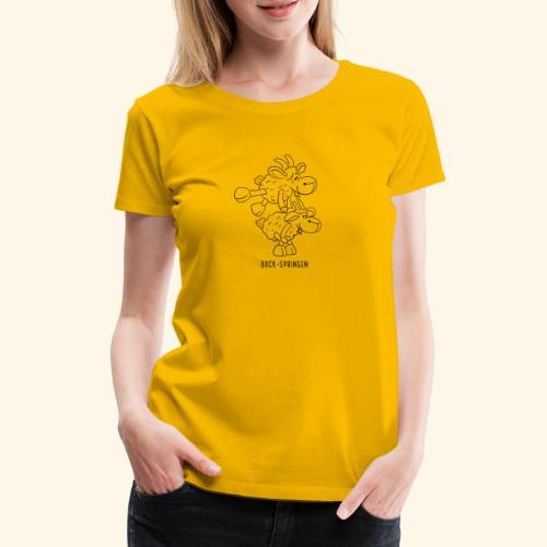 Schafbock: Bock springen - schwarz - Frauen Premium T-Shirt