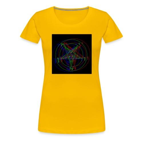 Satan, Pentagram RETRO VHS-Design - Frauen Premium T-Shirt