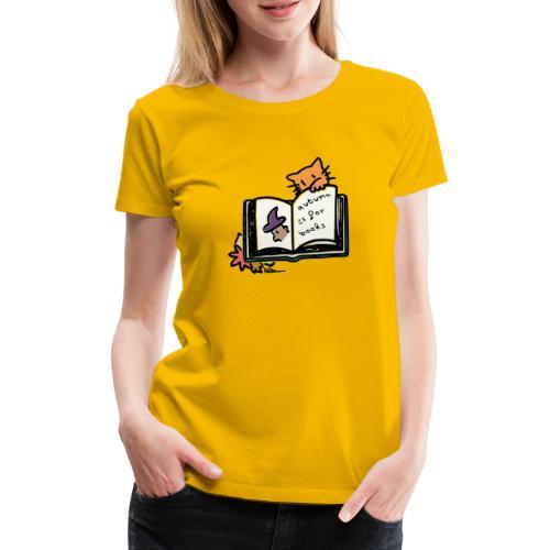 L'automne, c'est pour les livres ! - Frauen Premium T-Shirt