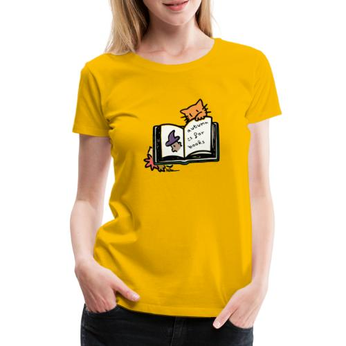 L'automne, c'est pour les livres ! - T-shirt Premium Femme