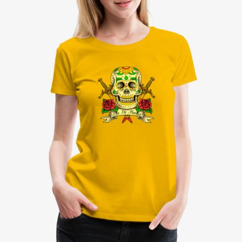 Schädel des Tages der Toten - Frauen Premium T-Shirt