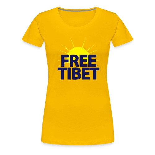 Free-Tibet Team Tibet - Frauen Premium T-Shirt