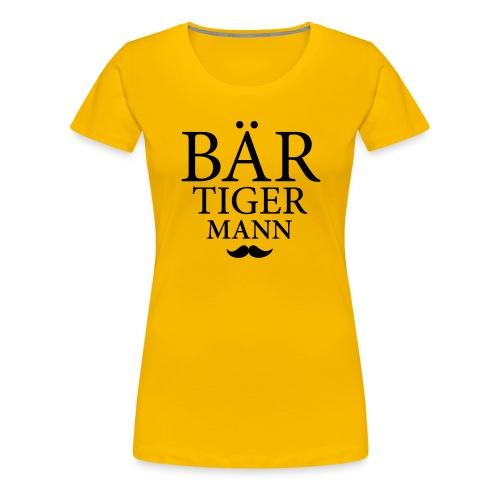 Bär-Tiger-Mann - Frauen Premium T-Shirt