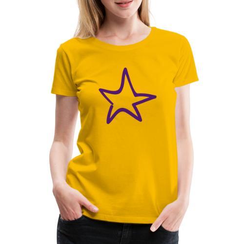 Star Outline Pixellamb - Frauen Premium T-Shirt
